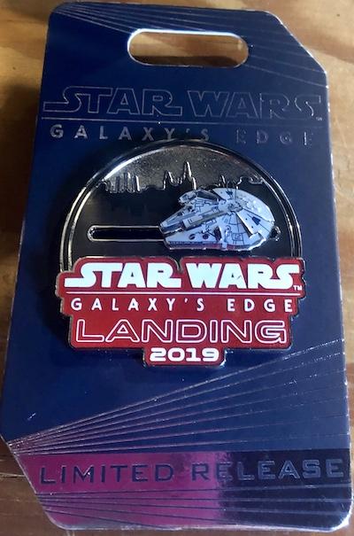 Millennium Falcon Star Wars Galaxy's Edge Landing 2019 Pin