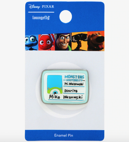 Monsters University Mike Wazowski ID Card BoxLunch Disney Pin