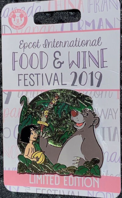 Mowgli & Baloo Epcot Food & Wine 2019 Pin
