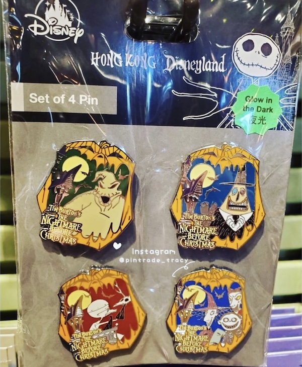 Nightmare Before Christmas 2019 HKDL Pin Set