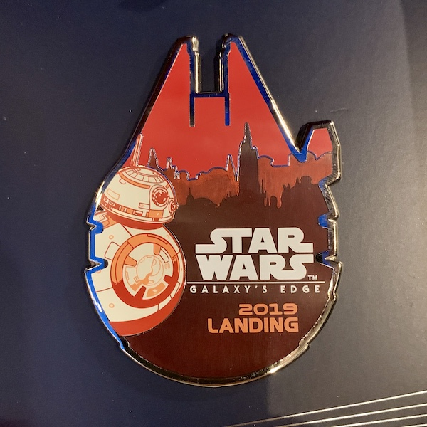 Opening Day Star Wars Galaxy's Edge Mini Jumbo Pin - Closer Look