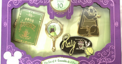 Princess and the Frog 10th Anniversary Pin Set - D23 Expo 2019