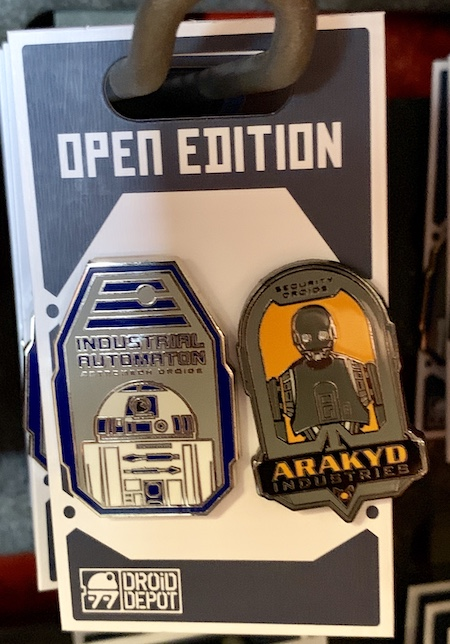 R2-D2 & K2SO Droid Depot Pin Set