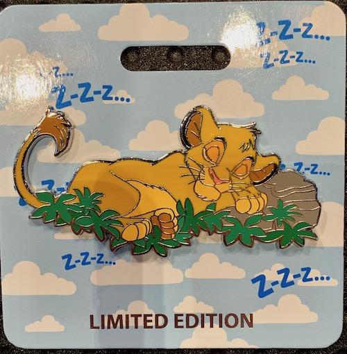 Simba Cat Nap WDI Pin
