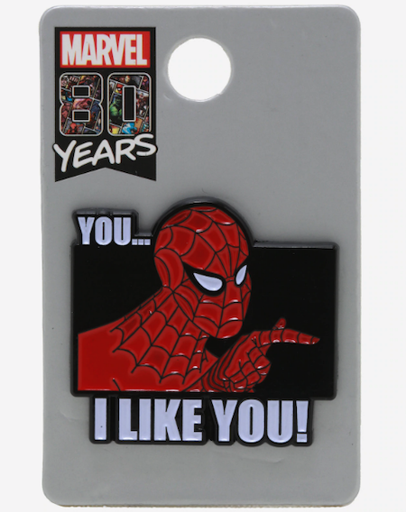 Spider-Man I Like You BoxLunch Marvel Pin