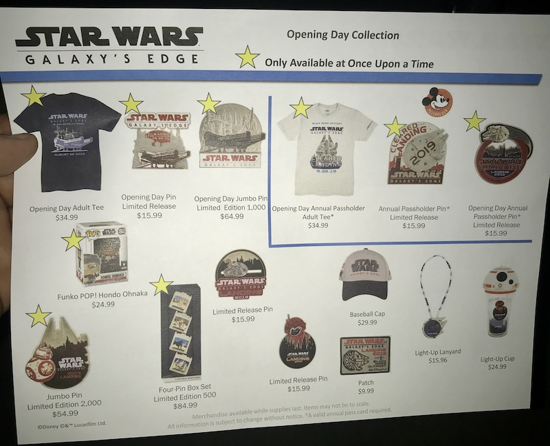 Star Wars Galaxy's Edge Opening Day Pins at Walt Disney World