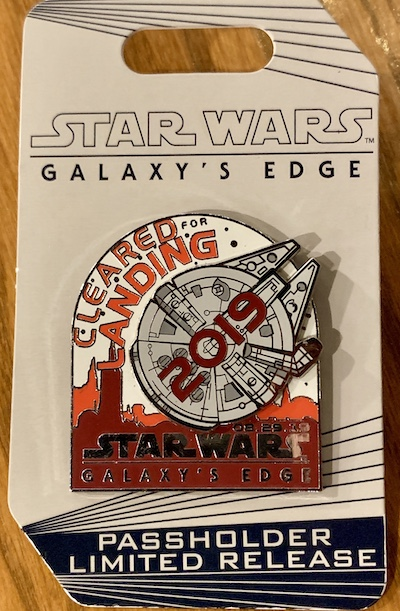 Star Wars Galaxy's Edge WDW Opening Day Passholder Pin