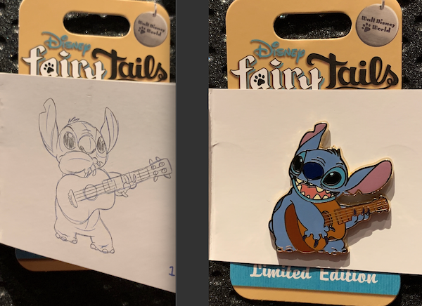 Stitch's Guitar Solo Disney FairyTails Pin