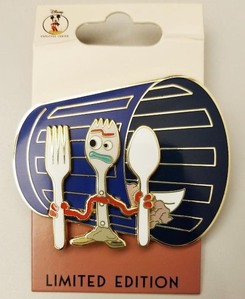 Surprise Forky Disney Employee Center Pin