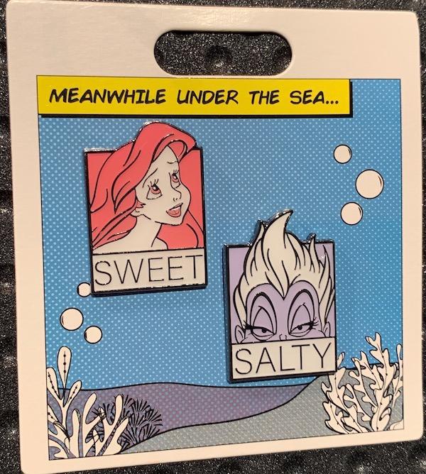 Sweet and Salty Little Mermaid Disney Pin Set