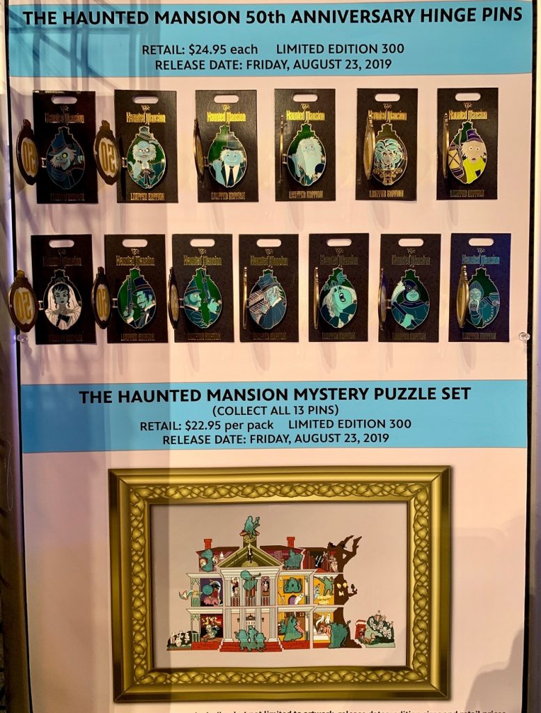 The Haunted Mansion 50th Anniversary WDI Pin Collection