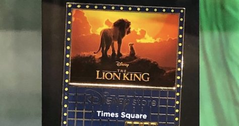 The Lion King Disney Store Times Square Pin