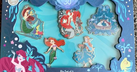 The Little Mermaid 30th Anniversary Disney Store Pin Set