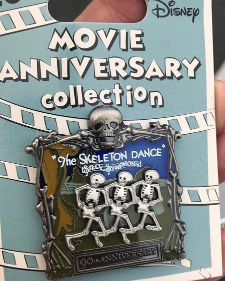 The Skeleton Dance 90th Anniversary Cast Member Pin