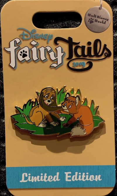 Tod & Copper's Adventure Disney FairyTails Pin