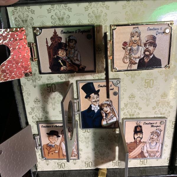 Wedding Album Haunted Mansion Pin Set - Inside