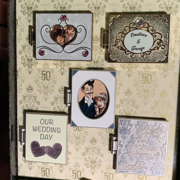 Wedding Album Haunted Mansion Pin Set