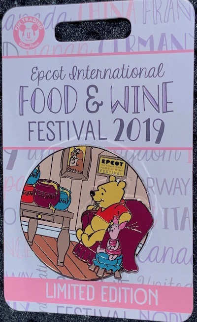 Winnie the Pooh & Piglet Epcot Food & Wine 2019 Pin