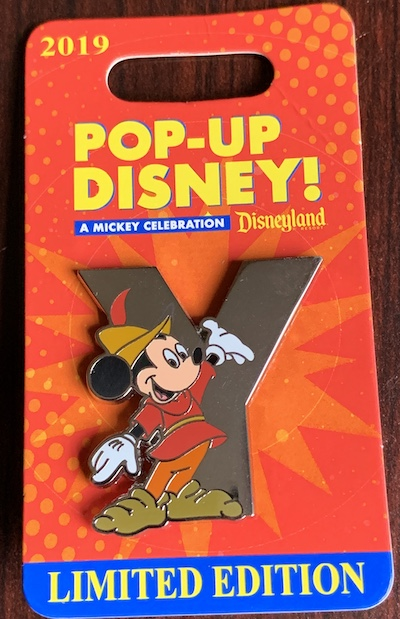 Y – Pop-Up Disney! Pin