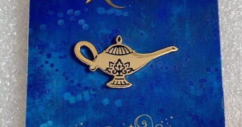Aladdin Gold Lamp Lapel Pin
