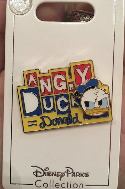 Angry Duck Donald Shanghai Disney Pin