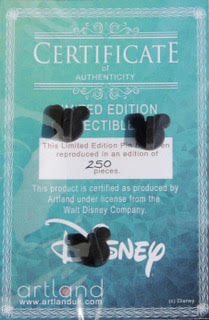 Certificate of Authenticity - ArtLand Disney Pin