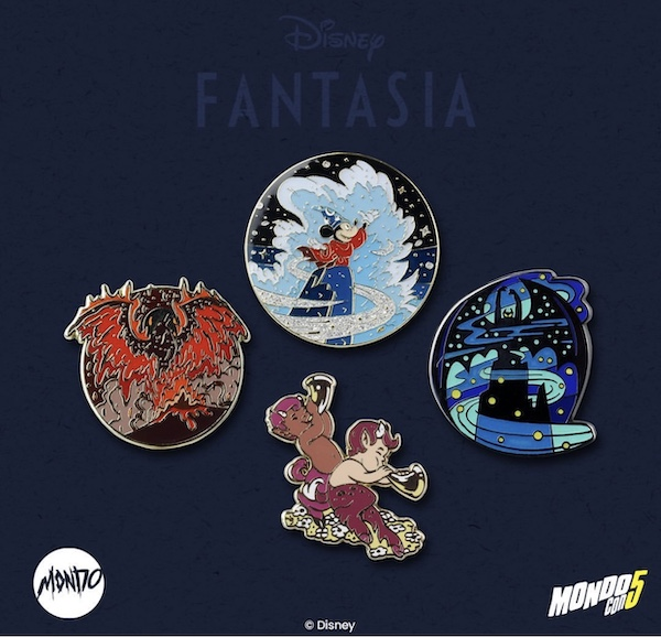 Disney Fantasia Mondo Pins - MondoCon 2019