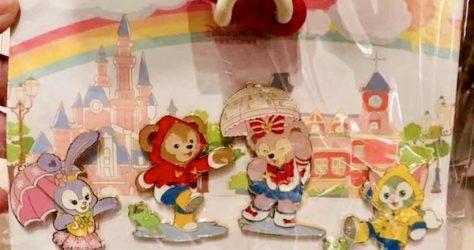 Duffy Bear & Friends Shanghai Disneyland Rain Pin Set #2