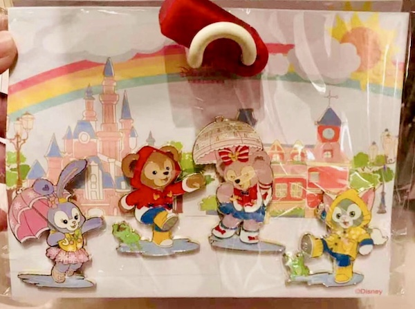 Duffy Bear & Friends Shanghai Disneyland Rain Pin Set #2