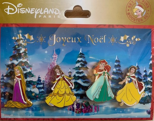 Joyeux Noel Disneyland Paris 2019 Princess Pin Set