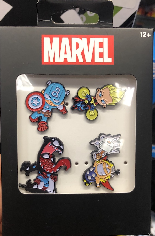 Marvel Characters Pin Set - GameStop