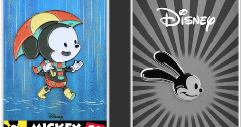 Mickey Mouse and Oswald Mondo Disney Pins