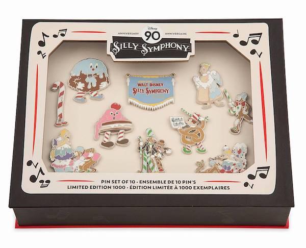 Silly Symphony 90th Anniversary Disney Visa Cardmember Pin Set