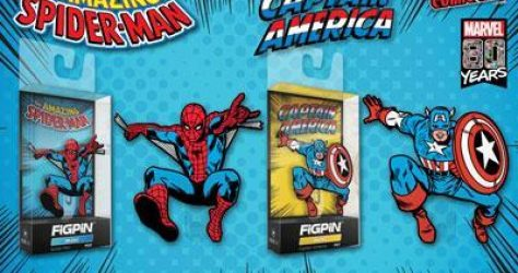 Spider-Man & Captain America FiGPiN Minis - NYCC 2019