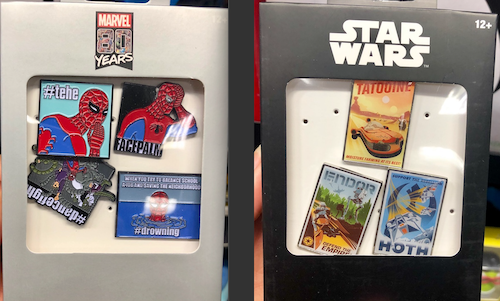 Star Wars and Marvel Pin Sets at GameStop