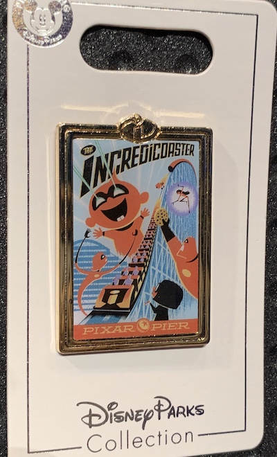 The Incredicoaster Pixar Pier Disney Pin