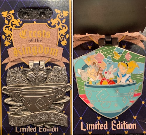 The Mad Tea Party Crests of the Kingdom Pin