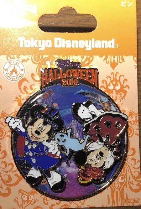 Tokyo Disneyland Halloween 2019 Mickey and Minnie Pin