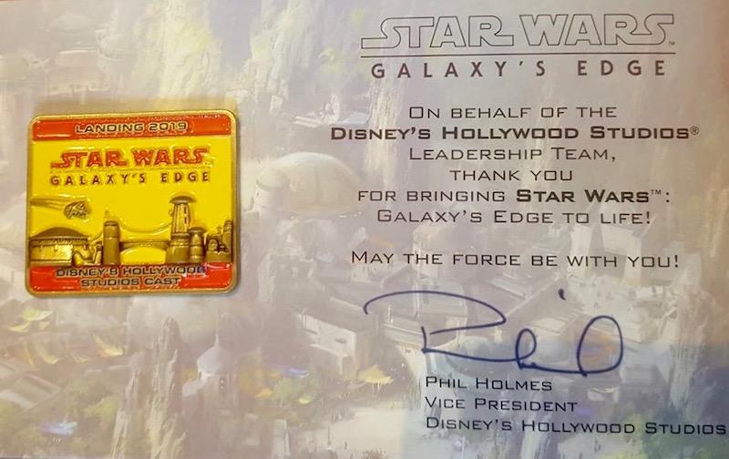 Walt Disney World Cast Star Wars Galaxy's Edge Grand Opening Pin
