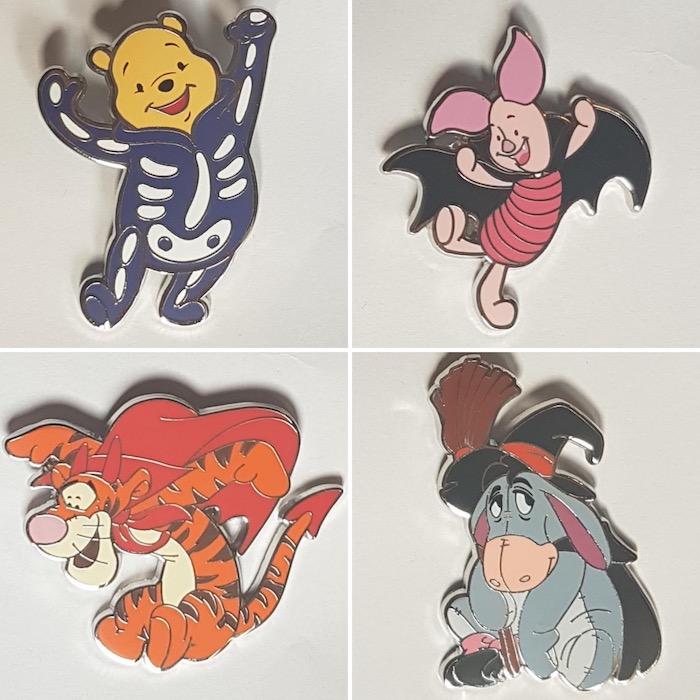 Winnie the Pooh 2019 Halloween Pins - Disneyland Paris