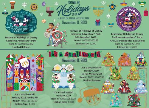 DLR Holiday 2019 Pin Releases