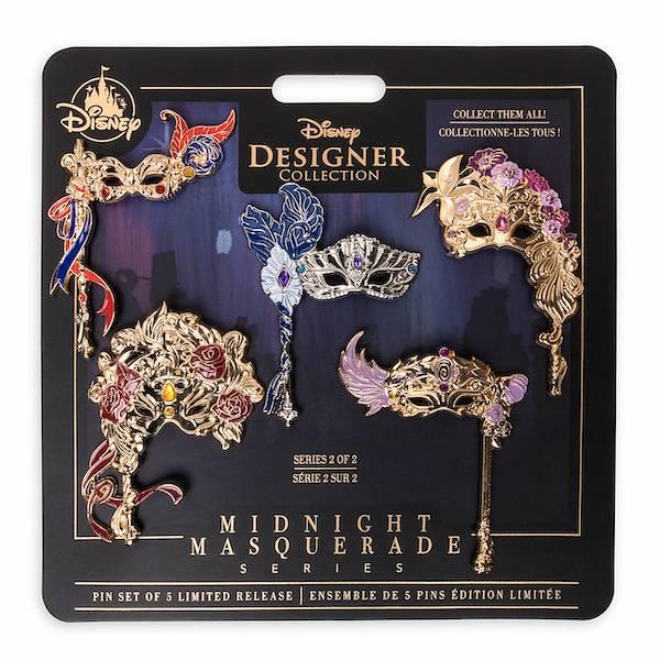 Disney Designer Collection Midnight Masquerade Pin Set 2