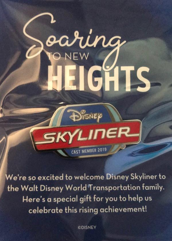 Disney Skyliner Cast Member 2019 Opening Pin