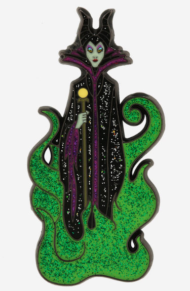Disney Villains Maleficent Glitter Flames Pin