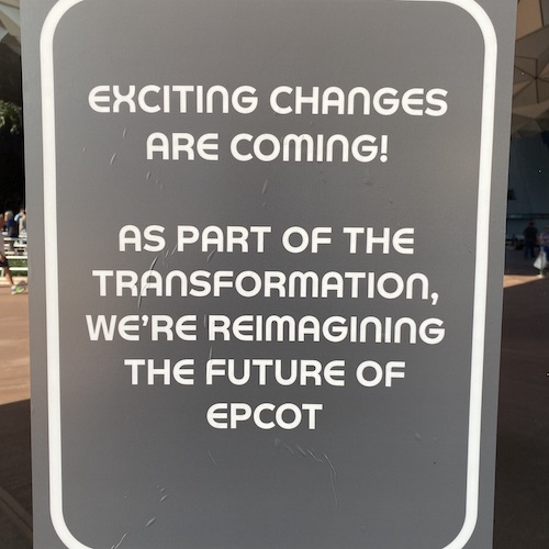 Epcot Exciting Changes