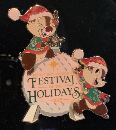 Epcot Festival of the Holidays 2019 Logo Pin