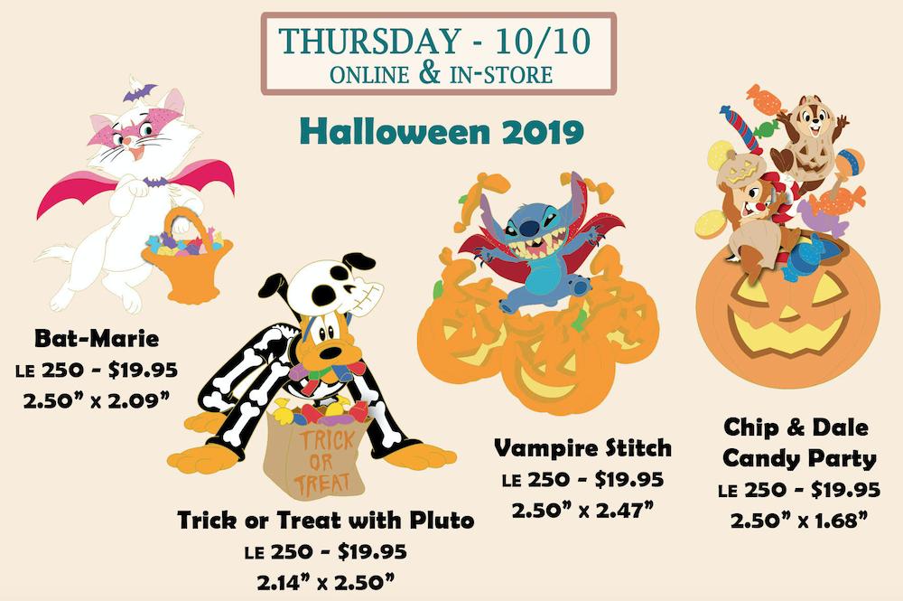 Halloween 2019 Disney Employee Center Pins