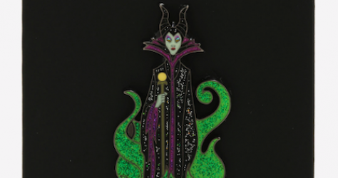Maleficent Glitter Flames BoxLunch Disney Pin