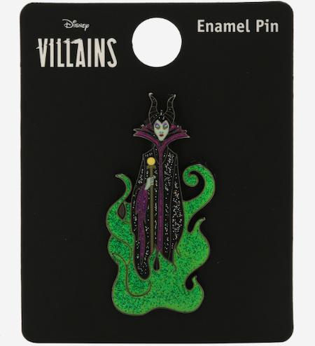 Maleficent Glitter Flames BoxLunch Disney Pin