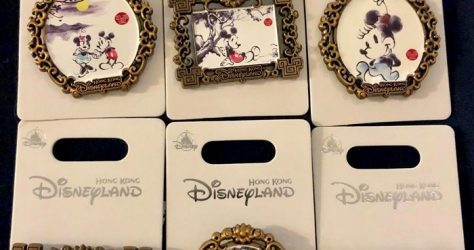 Mickey & Minnie Chinese Painting HKDL Pins